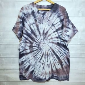 Gildan Custom made Black/grey tie dye shirt